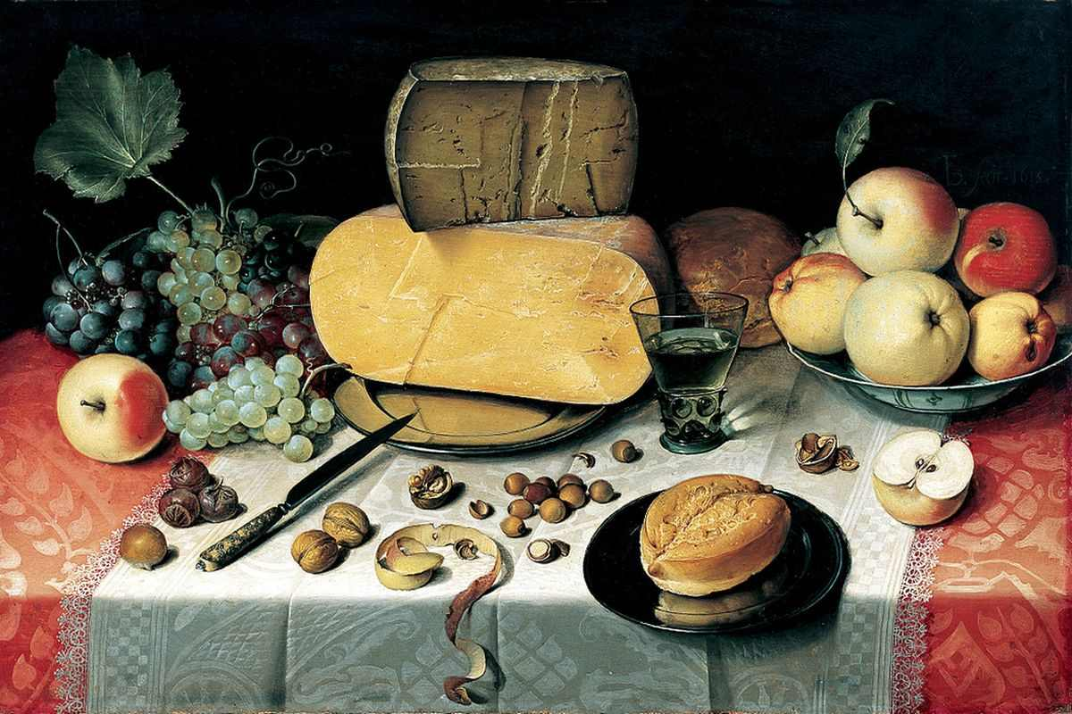 Floris Van Dyck Painting Still life With Fruit Nuts And Cheese via flickr com - Nuestros alimentos